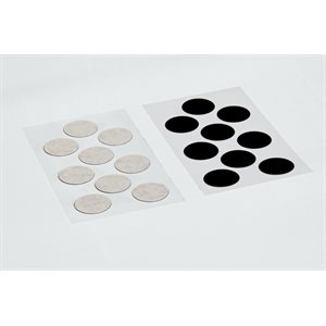 ADHESIVE CARBON DISCS, 25MM DIAMETER (54)
